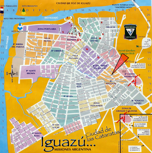 Map of Iguazu